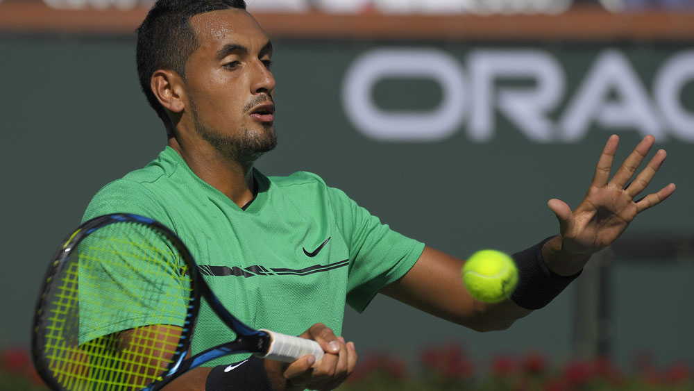 Australian tennis player Nick Kyrgios.