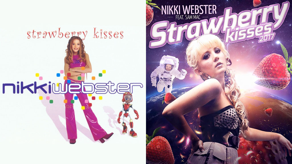 Nikki Webster has re-released her popular single 'Strawberry kisses' 16 years after its original release. (BMG/Red Music Publishing)