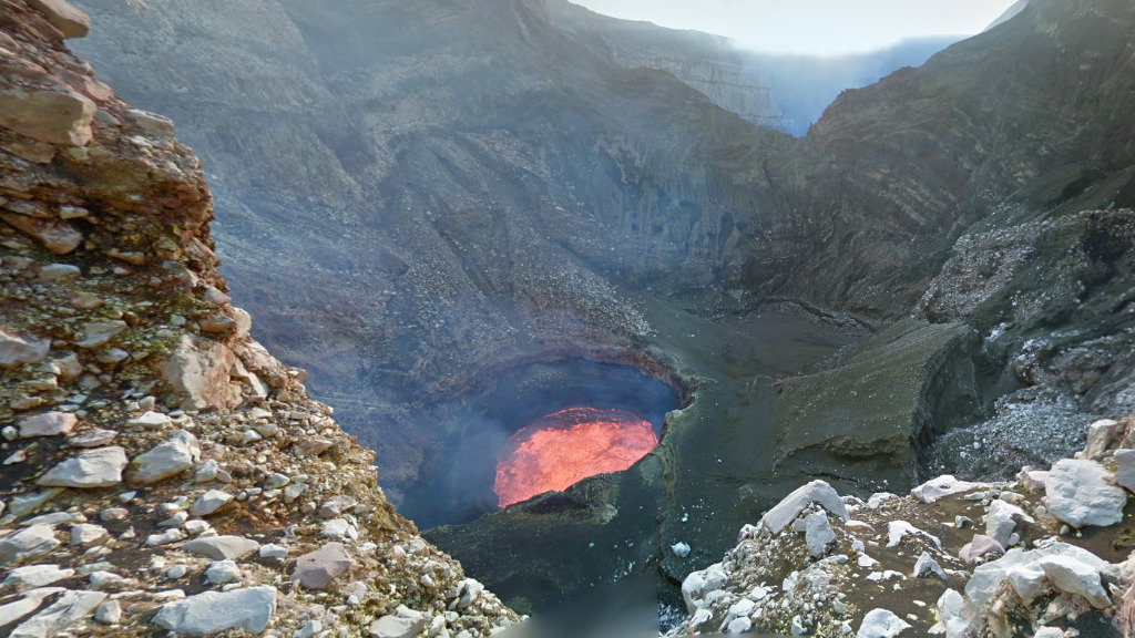 A view into the molten hot Marum Crater. (Google)