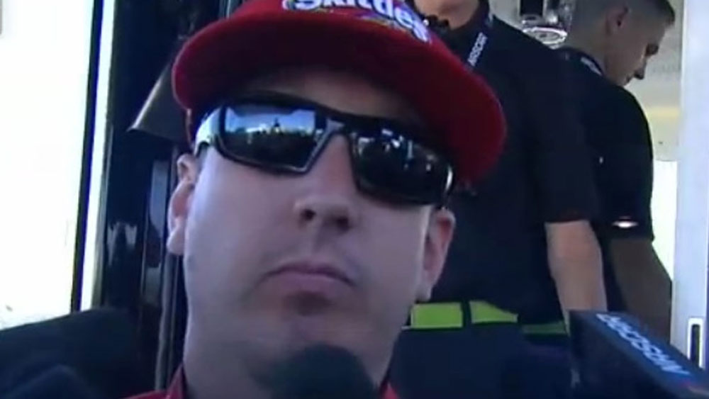 Nascar driver Kyle Busch's awkward response to fight with rival Joey Logano