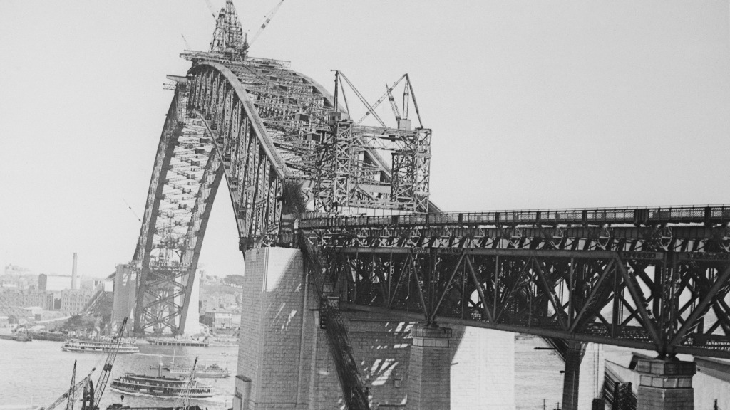 Construction on the Sydney Harbour Bridge began in 1924. (Getty Images)