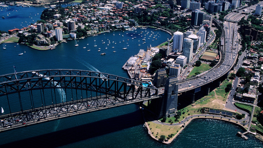 Around 150,000 people travel across the Harbour Bridge each day. (AFP)