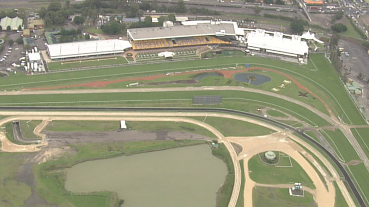 The Golden Slipper Stakes event was held at the racecourse yesterday. (9NEWS)