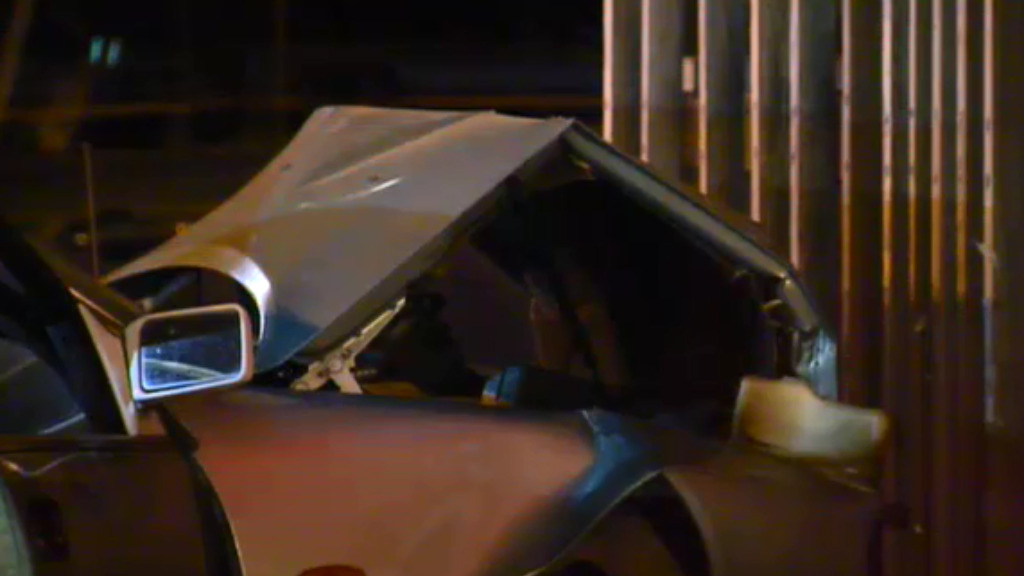 The driver and his passenger suffered minor injuries. (9NEWS)