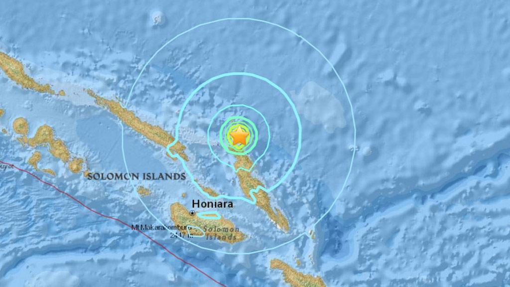 Preliminary 6.0-magnitude earthquake hits off Solomon Islands