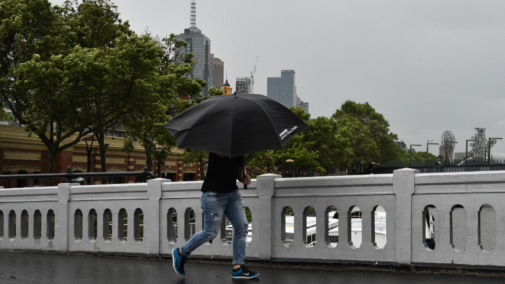 Wet conditions are forecast for the remainder of the day and tomorrow. (AAP)