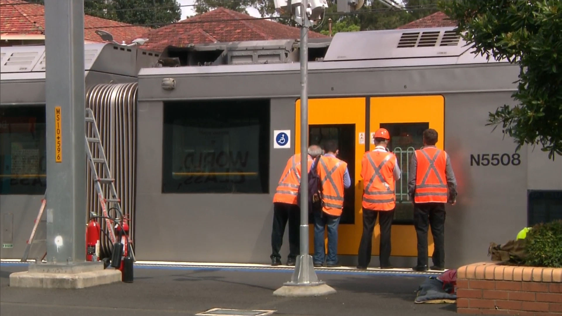 Repairs to the train triggered delays. (9NEWS)