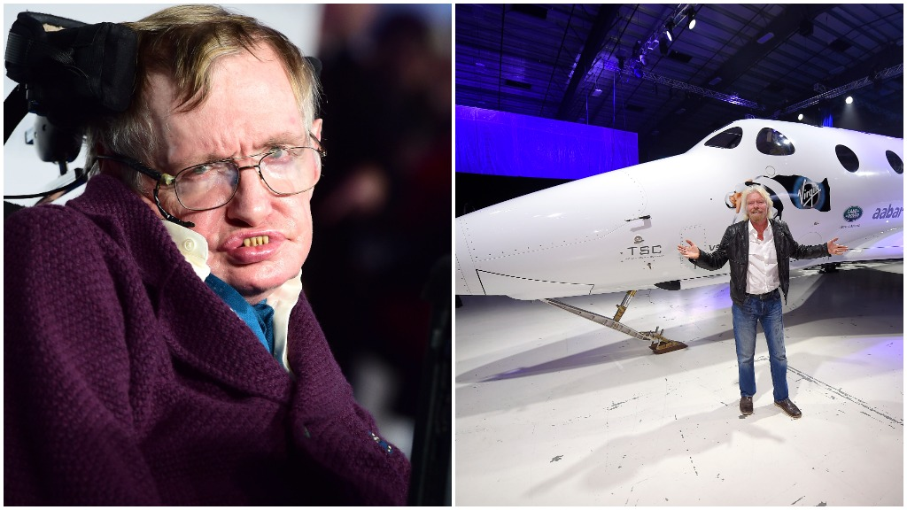 Stephen Hawking will achieve his dream of space travel on Richard Branson's Virgin Galactic