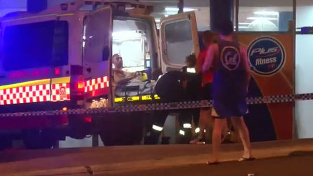 Three men are in hospital following a stabbing at a Brookvale gym. It's believed the man behind the stabbing later robbed two service stations. (9NEWS)