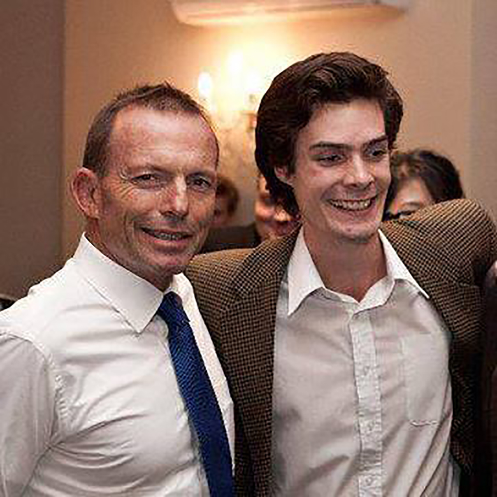 Edwin Nelson with former PM Tony Abbott. (Facebook)