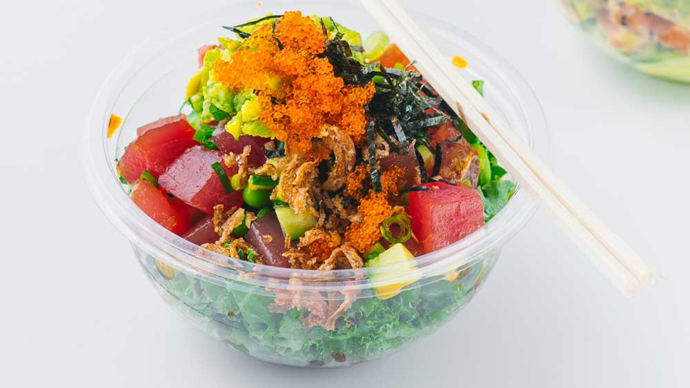 Poku's tuna and toasted sesame poke bowl