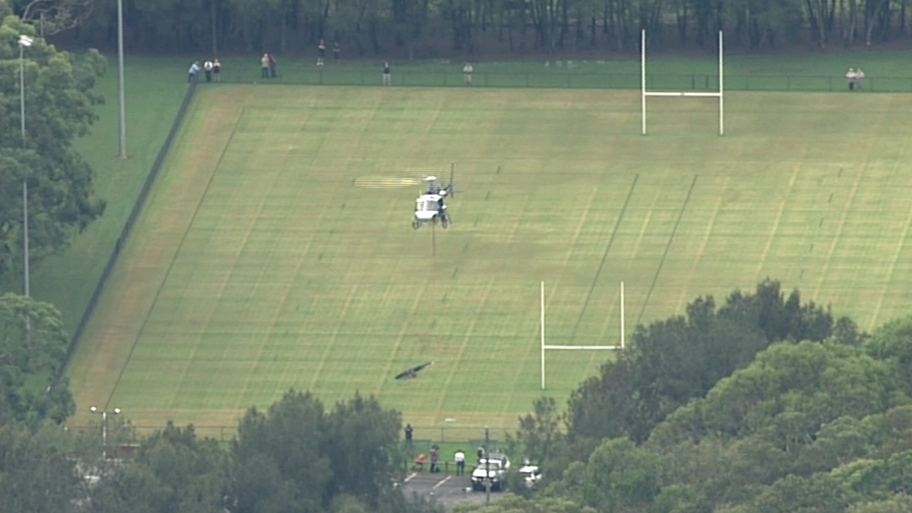The propeller was taken to a nearby oval. It will later be taken to Bankstown Airport. (9NEWS)