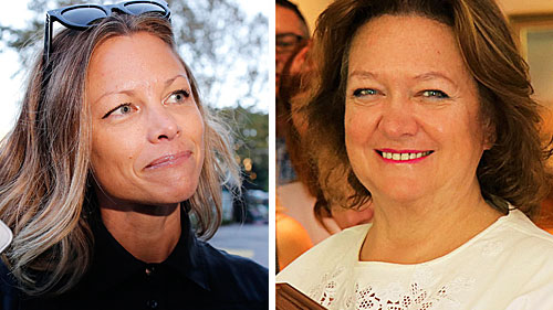 Bianca Rinehart (left) has been given the green light to further sue her mother over the family's multi-billion-dollar fortune.
