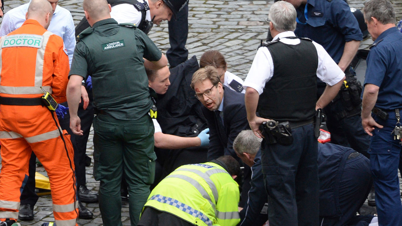 London attack: Hero MP tries to save stabbed cop in London terror attack