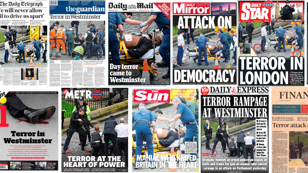 London attack: Front pages of newspapers illustrate Westminster terror attack