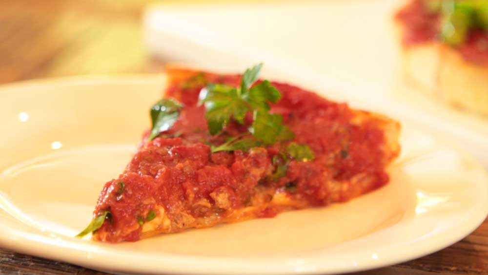 The Capone deep-dish pizza at Johnny Fontane's, Darlinghurst. Video: 9Kitchen