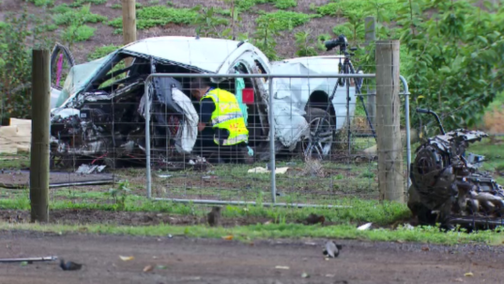 Mr Kloppers died after the vehicle he was travelling in lost control in Bacchus Marsh. (9NEWS)