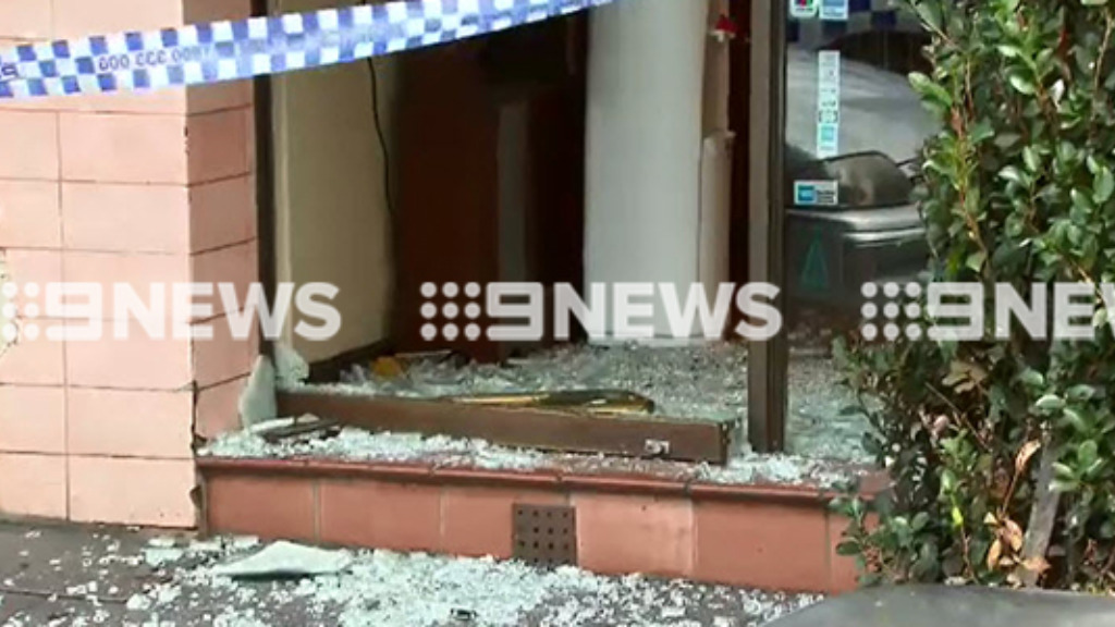 The thieves targeted the store about 3pm. (9NEWS)