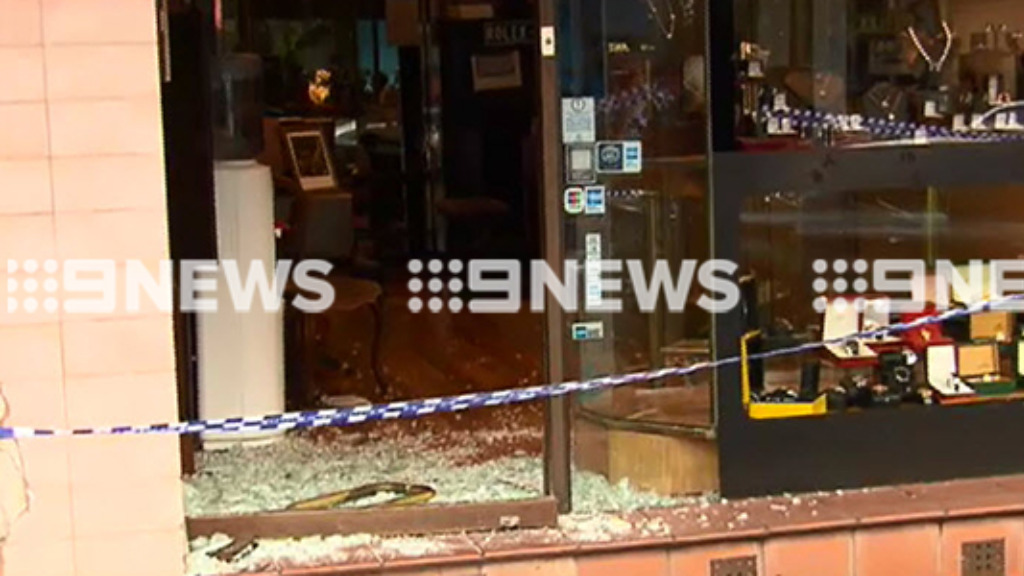It is the second jewellery store robbery in Melbourne in as many days. (9NEWS)