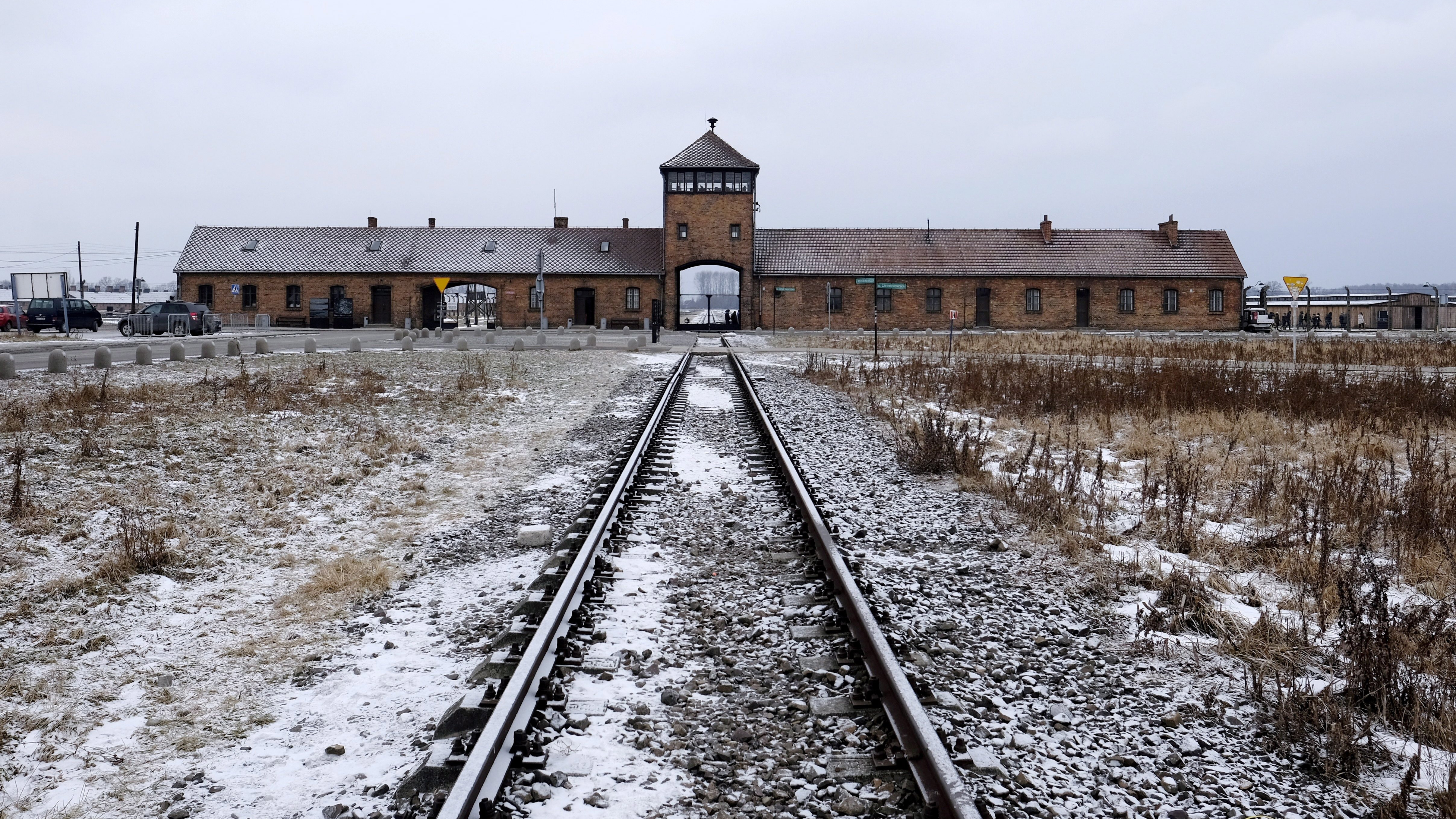 Eleven people charged over slaughtering lamb in bizarre gathering at Auschwitz Nazi death camp