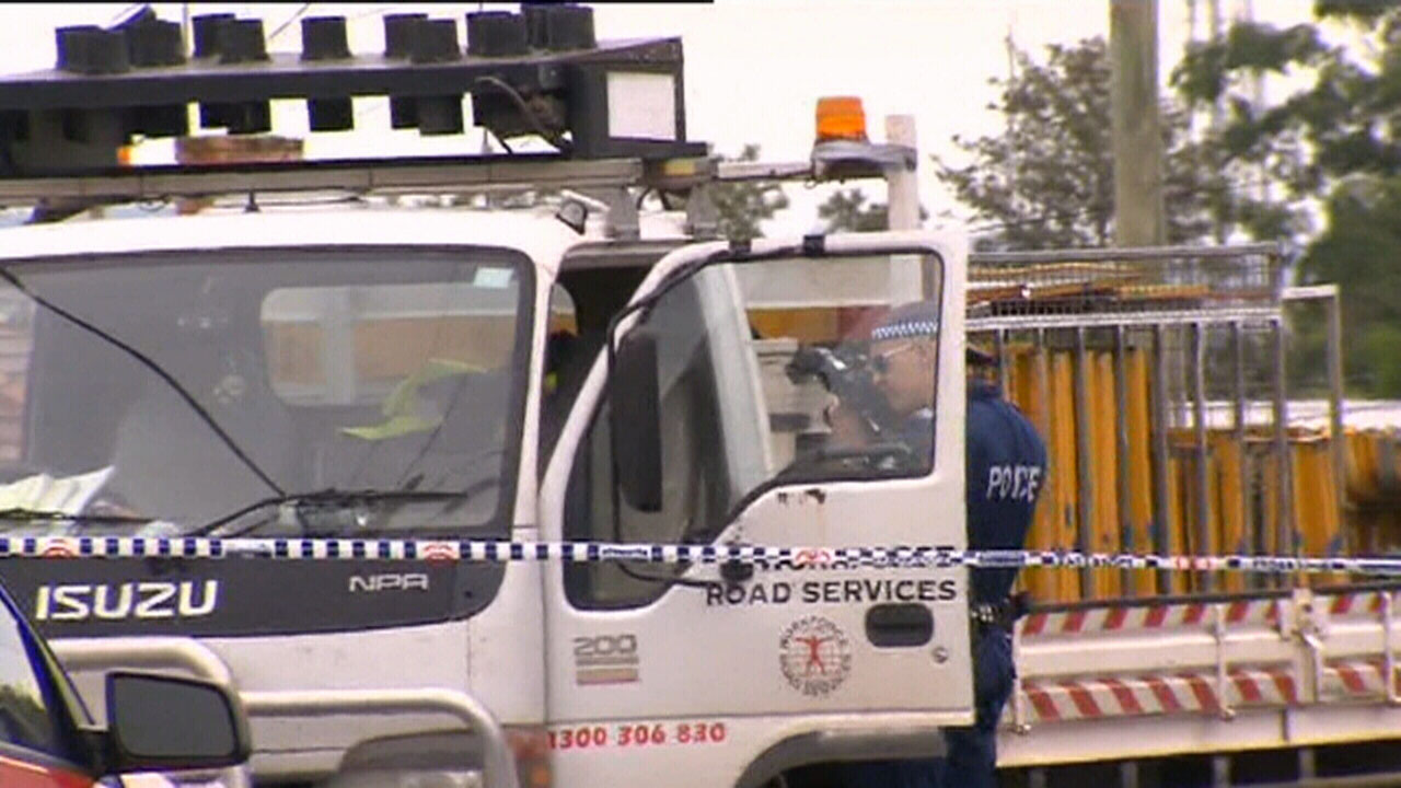 The truck's driver has undergone mandatory drug and alcohol testing. (9NEWS)