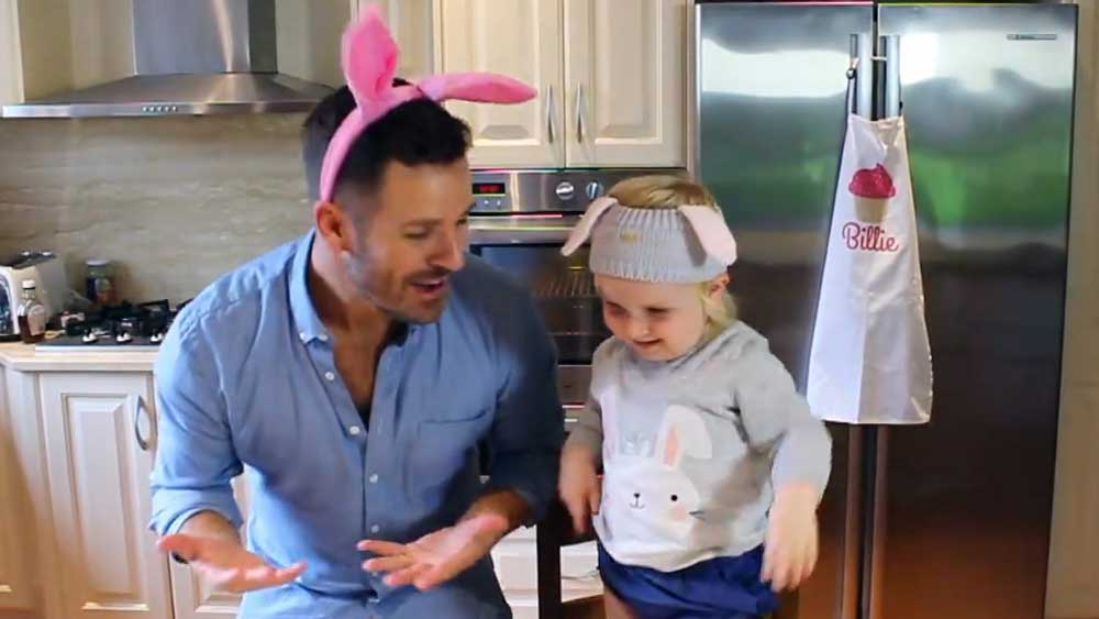 Billie Coco and Matty father-daughter cooking