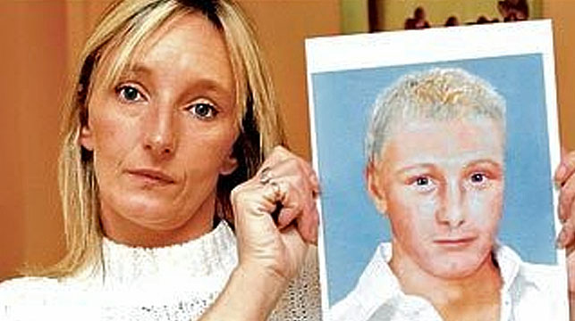 Kerry Needham has made a new appeal for people to help trace her son. She is pictured with an artist impression of what an adult Ben could look like now.