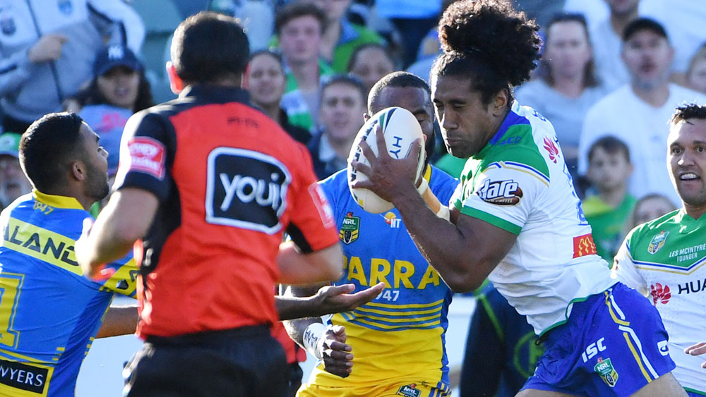Canberra Raiders stamp out Parramatta Eels' NRL fightback