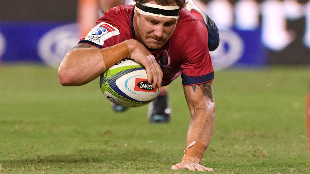 Scott Higginbotham's try was one of the bright points for the Reds. (AAP)