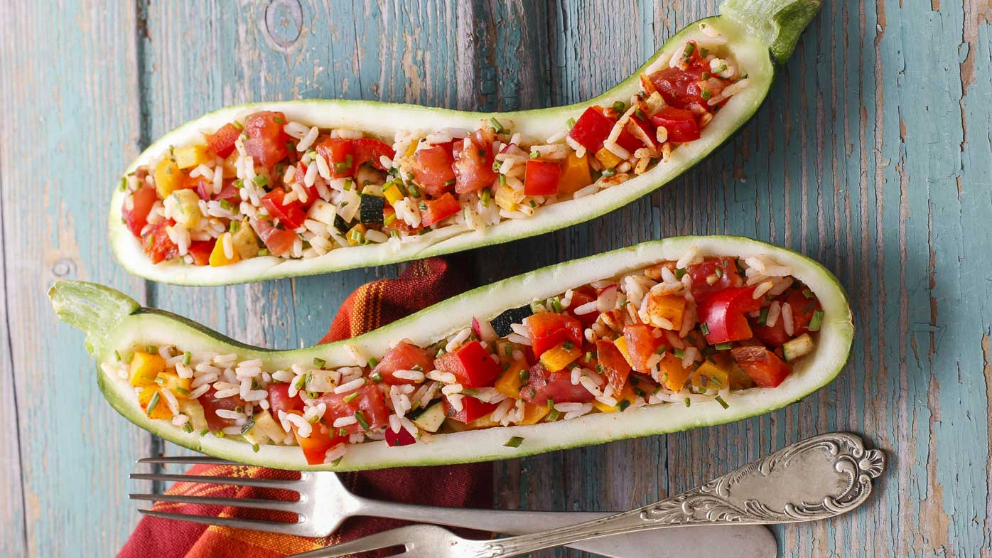 Stuffed zucchini recipe, as featured in Shape Me by Susie Burrell