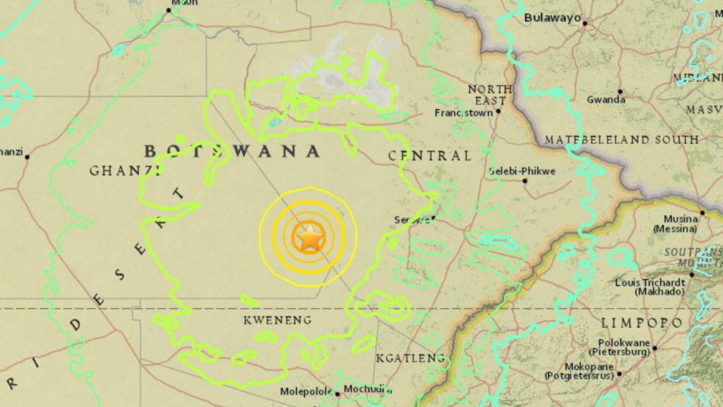 A strong 6.5-magnitude quake has hit Botswana. (USGS)