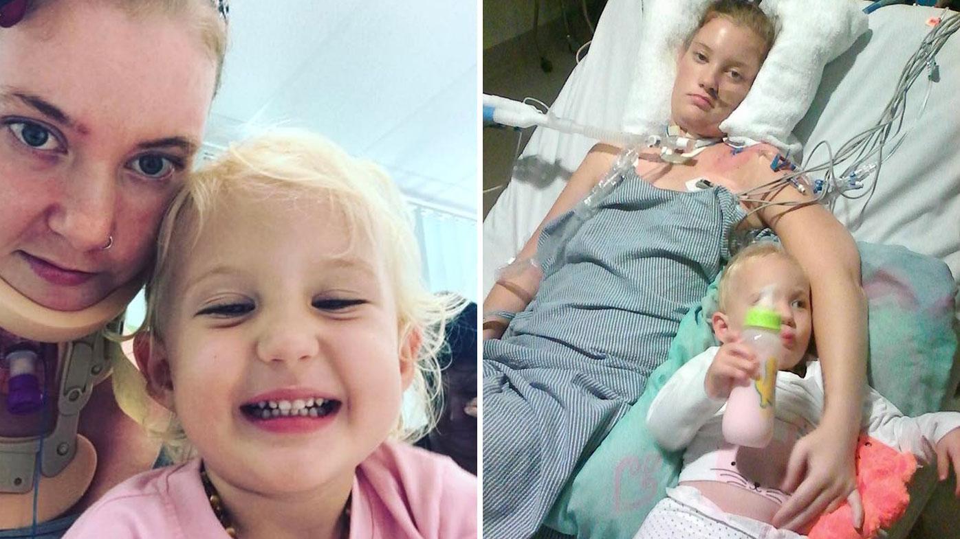 Young Queensland mum paralysed by rare autoimmune disease