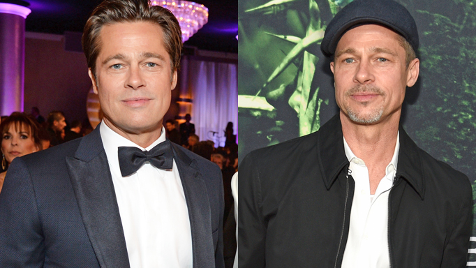 Brad in January 2016 (left) and on April 5, 2017; Images: Getty, ...