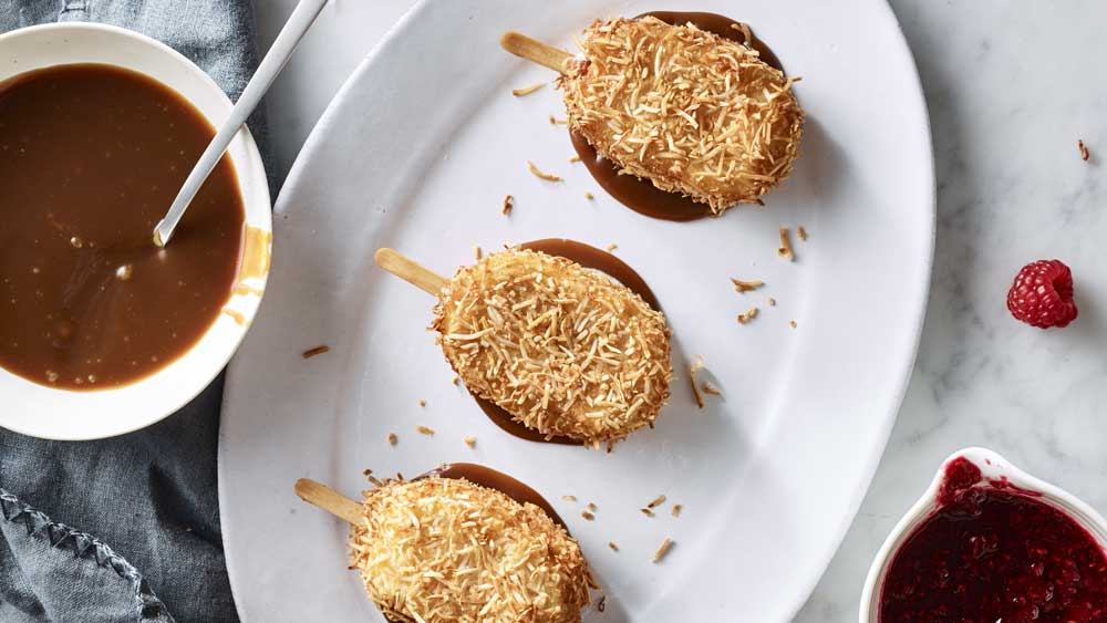Anna Polyvou's coconut fried ice-cream