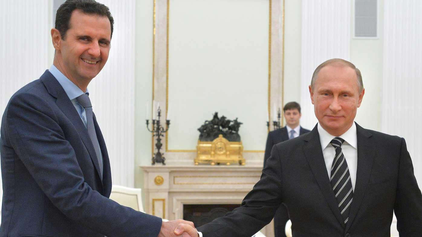 Syrian president Bashar al-Assad and Russian president Vladimir Putin. (AAP)