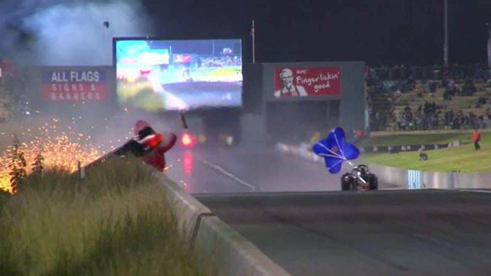 Drag racer Daniel Miocevich survives spectacular 440km/h crash in Perth