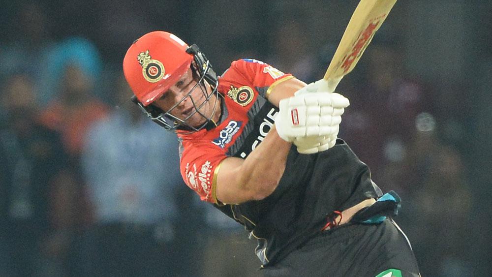 South African batsman AB de Villiers.