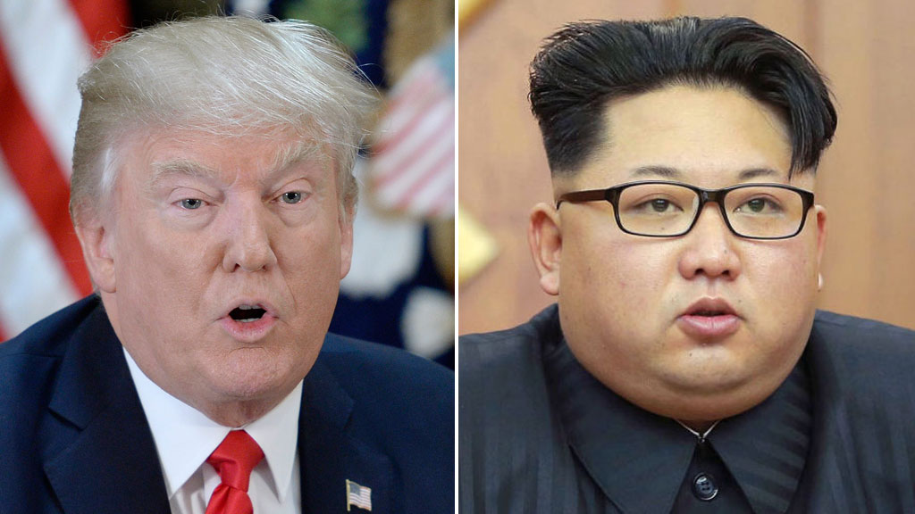 Trump declares military option with North Korea 'locked and loaded'