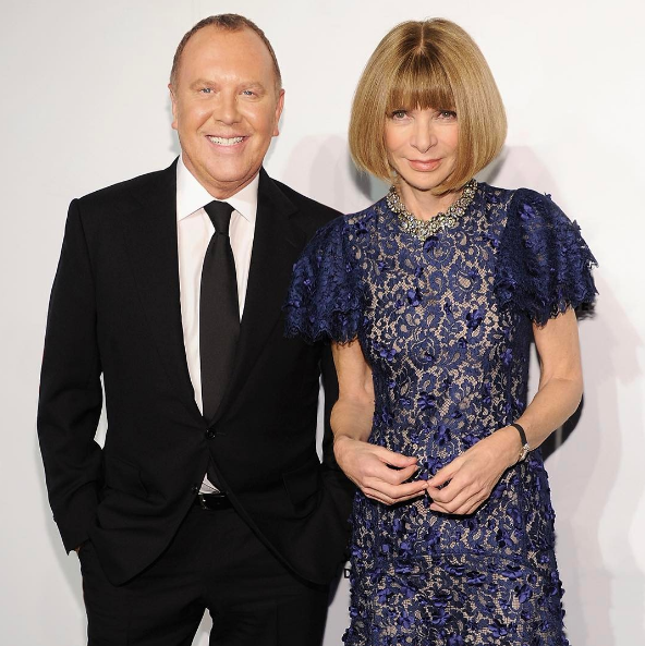 fashion designer michael kors 6nqw  Designer Michael Kors is tired of conformity in fashion Pictured with US  Vogue Editor-in-chief Anna Wintour Image:Instagram@michaelkors