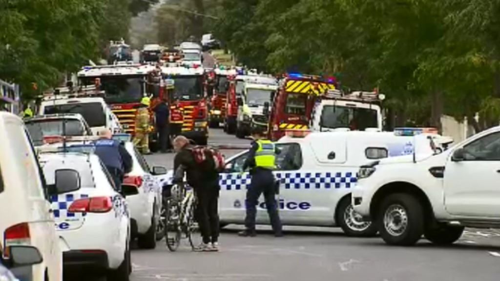 Emergencies services at the scene. (9NEWS)