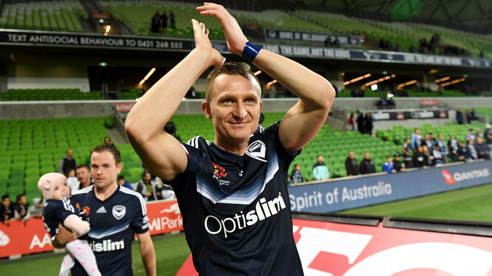 Melbourne Victory striker Besart Berisha delights in hitting A-League ton