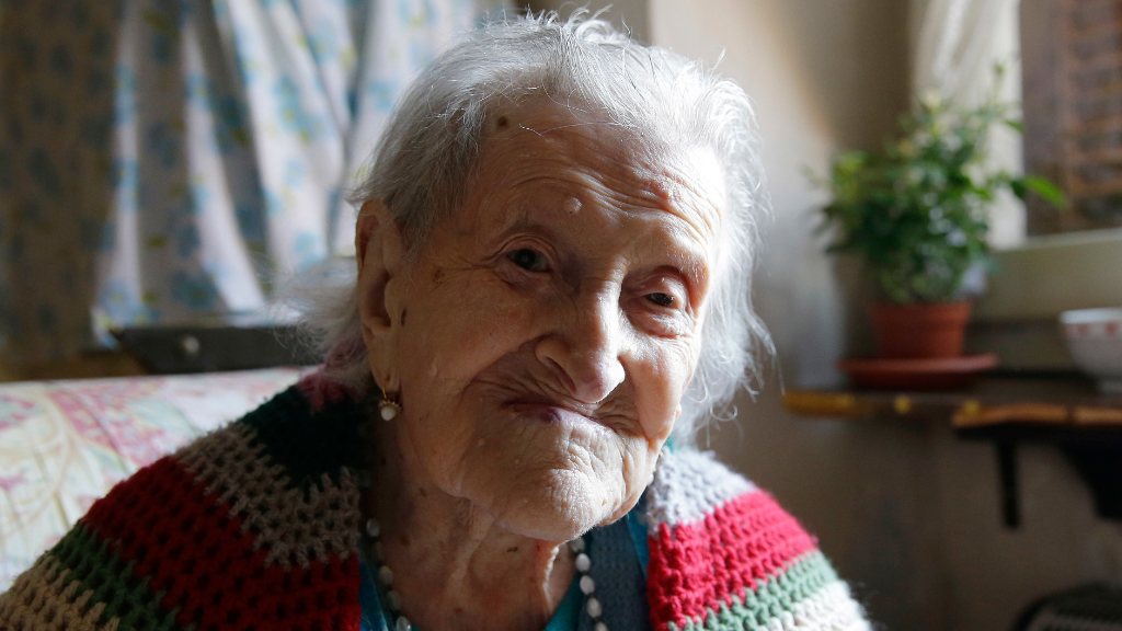 Emma Morano aged 115 in 2015. (AAP)