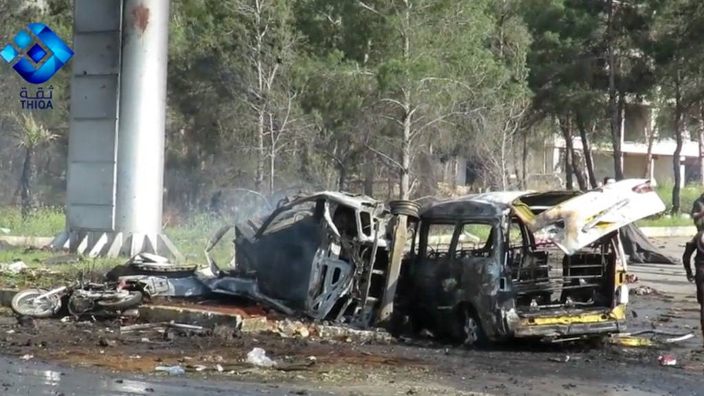 Death toll from suicide blast on Syrian bus convoy rises to 112