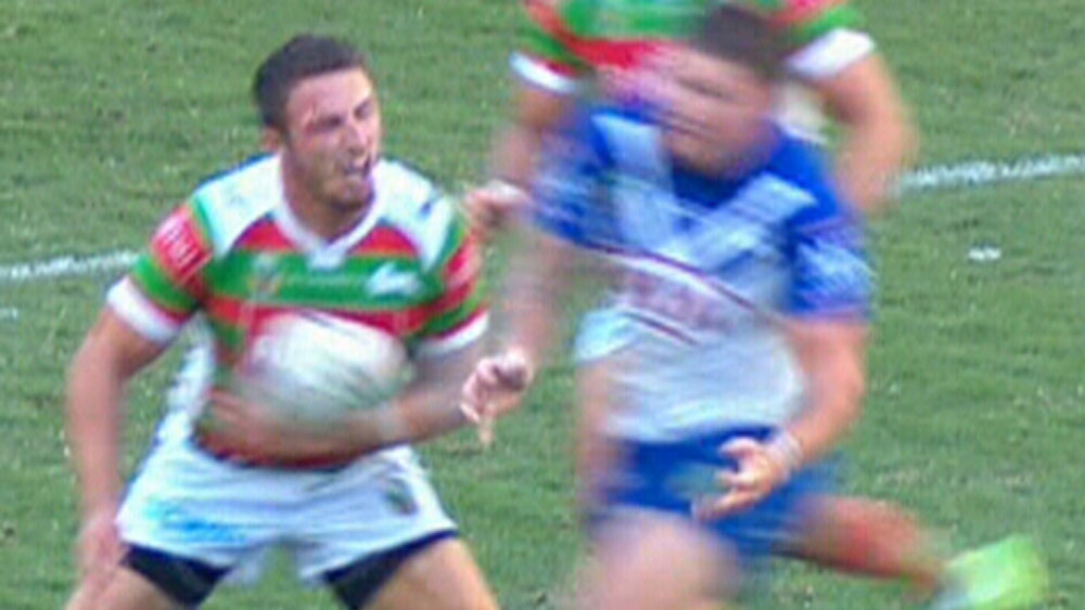 Burgess uses head to beat shoulder charge