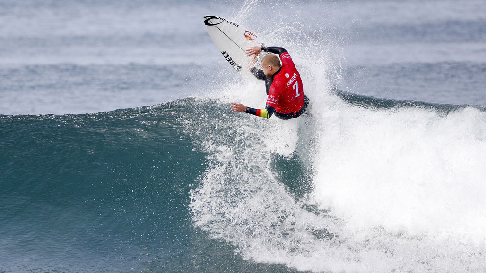 Mick Fanning in action during the Bells Beach Pro. (AAP)