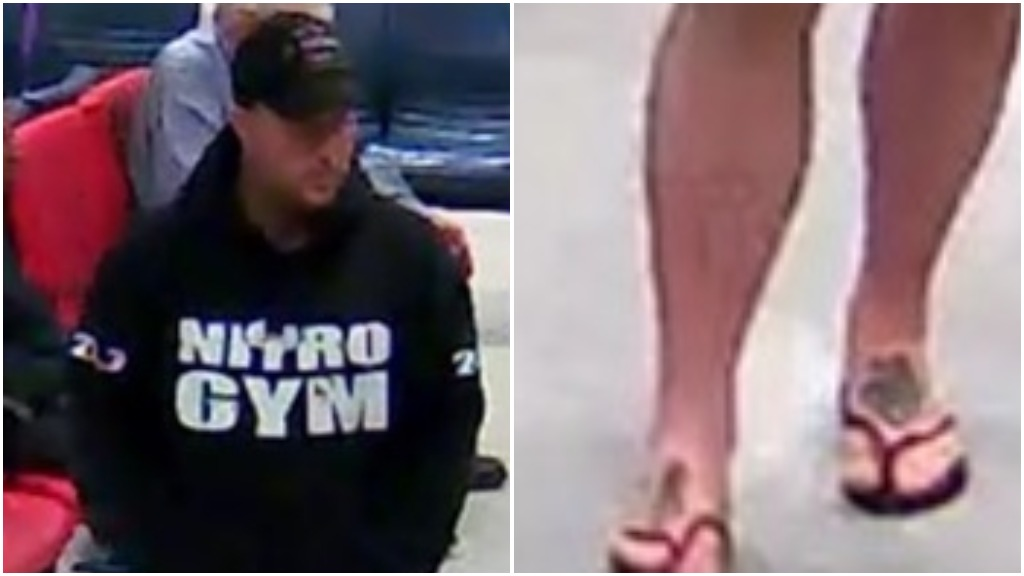 A man with tattooed feet is wanted for a drive-by shooting in February. (Victoria Police)
