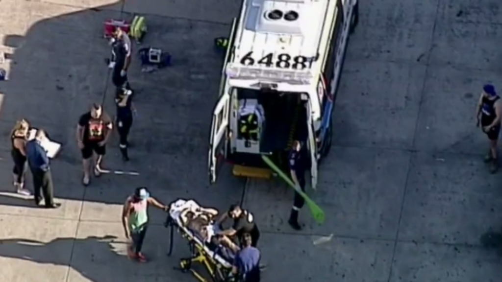 The victim was taken to hospital with non-life threatening injuries. (9NEWS)