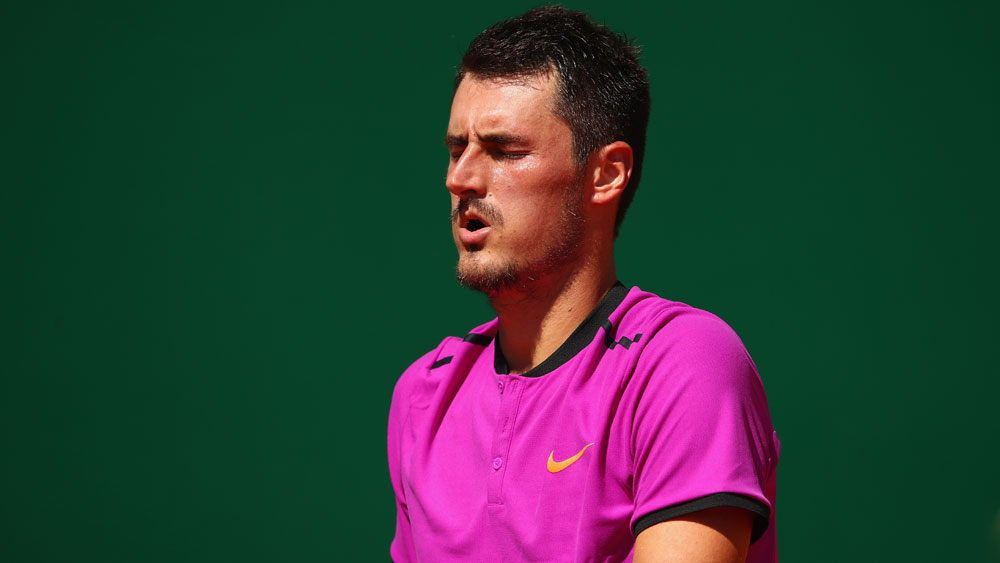 Tomic's run of first round losses continues in Monte Carlo