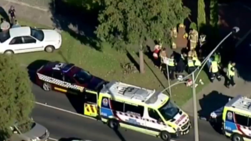The man has been arrested and taken to Royal Melbourne Hospital. (9NEWS)