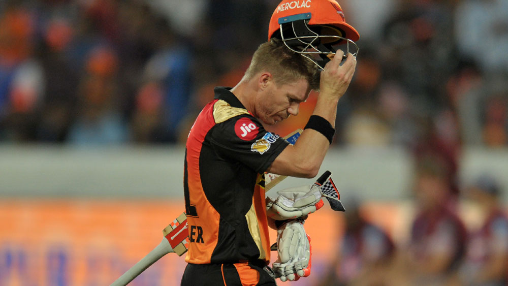 Sunrisers Hyderabad's Australian batsman David Warner.